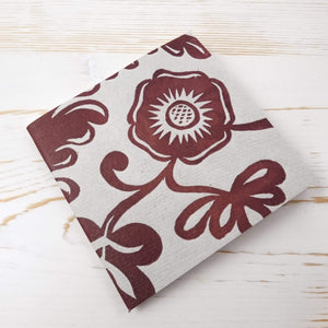 Papillon Flora Mini Square Notebook Block Printed Notebook Papillon Press Stone