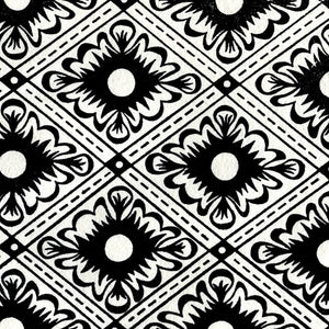 Italian Diamond Block Printed Sheet Block Printed Sheet Papillon Press Bone Black