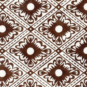Italian Diamond Block Printed Sheet Block Printed Sheet Papillon Press Burnt Umber