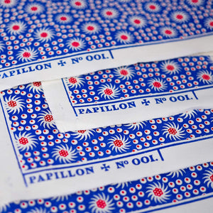 French Pinwheel Block Printed Sheet Block Printed Sheet Papillon Press Égalité