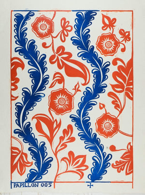 Papillon Flora Block Printed Sheet Block Printed Sheet Papillon Press