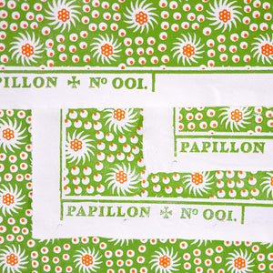 French Pinwheel Block Printed Sheet Block Printed Sheet Papillon Press Printemps