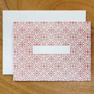 Dutch Ornamental #HASHCARDS #HASHCARD Papillon Press Blank Cherry