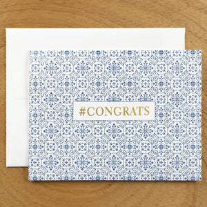 Dutch Ornamental #HASHCARDS #HASHCARD Papillon Press #CONGRATS Delft