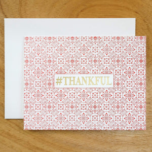 Dutch Ornamental #HASHCARDS #HASHCARD Papillon Press #THANKFUL Cherry