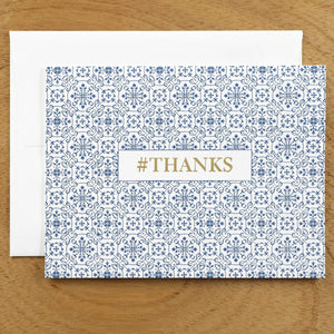 Dutch Ornamental #HASHCARDS #HASHCARD Papillon Press #THANKS Delft