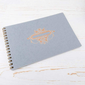 Wire Bound Notebook with Copper Label Wire Bound Notebook Papillon Press