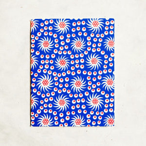 French Pinwheel Mini Letterpress Notebook: Set of 3 Block Printed Notebook Papillon Press