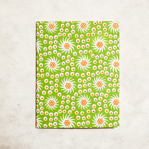 French Pinwheel Mini Letterpress Notebook Block Printed Notebook Papillon Press Printemps