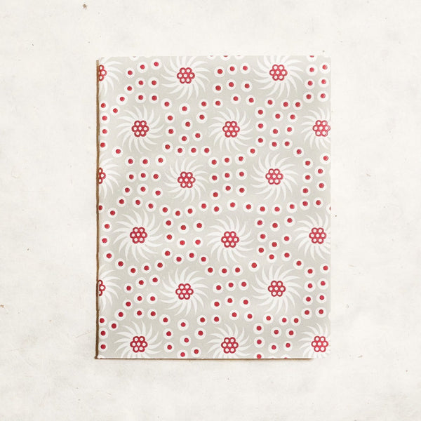 French Pinwheel Mini Letterpress Notebook Block Printed Notebook Papillon Press Mademoiselle