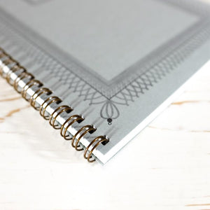 Ornamental Frame Wire Bound Notebook - Large Wire Bound Notebook Papillon Press