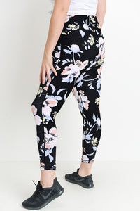 Summer Evening Floral Printed PLUS SIZE Women's Legging-Plus Size Leggings-Ladies, Lattes, and Lifting