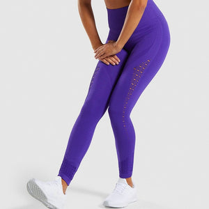 Women's Seamless Eyelet Detail High Waist Leggings-Leggings-Ladies, Lattes, and Lifting