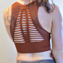 Load image into Gallery viewer, Seamless Laser Cut Middie Sports Bra-Ladies, Lattes, and Lifting