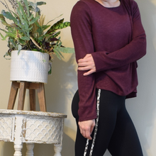 Load image into Gallery viewer, Burgundy Wrap Pullover Sweater-Ladies, Lattes, and Lifting