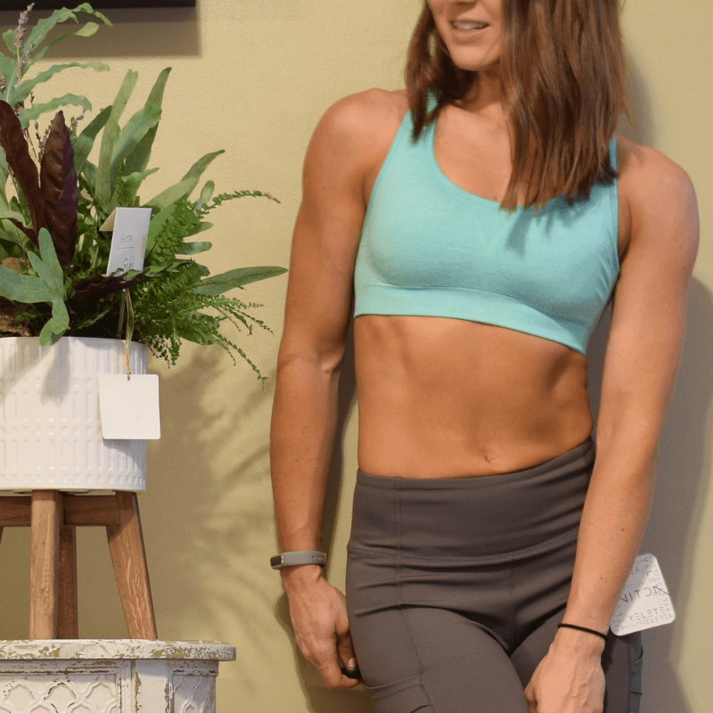 Green Apple Essential Sports Bra-Ladies, Lattes, and Lifting