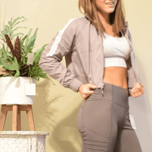 Load image into Gallery viewer, Sleek Cropped Nylon Sports Jacket-Ladies, Lattes, and Lifting