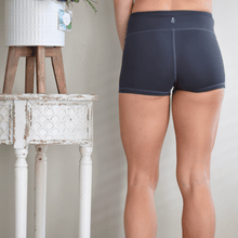 Load image into Gallery viewer, Women's Signature Shorts in Carbon by Yummy and Trendy-Shorts-Ladies, Lattes, and Lifting