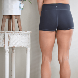 Women's Signature Shorts in Carbon by Yummy and Trendy-Shorts-Ladies, Lattes, and Lifting