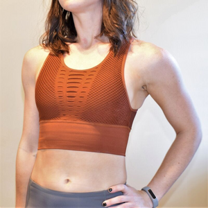 Seamless Laser Cut Middie Sports Bra-Ladies, Lattes, and Lifting
