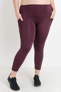 Plus Size High Waist Leggings with Mesh Leg Detail-Plus Size Leggings-Ladies, Lattes, and Lifting