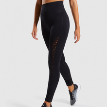 Load image into Gallery viewer, Women's Seamless Eyelet Detail High Waist Leggings-Leggings-Ladies, Lattes, and Lifting
