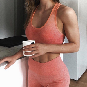 Women's Ombre Seamless Sports Bra-Sports Bra-Ladies, Lattes, and Lifting