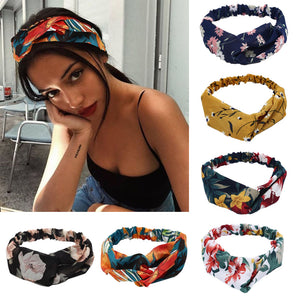 Printed Retro Hairbands For Women-Headbands-Ladies, Lattes, and Lifting