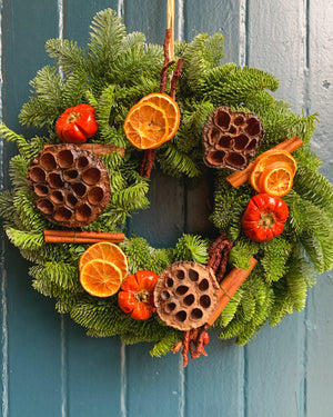 Festive Natural Pine Wreath