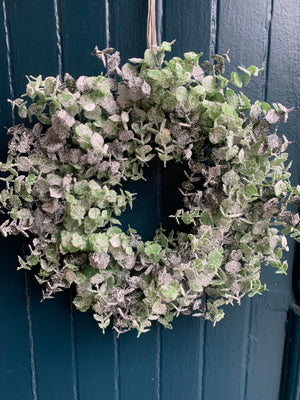 Faux Eucalyptus Sparkle Wreath