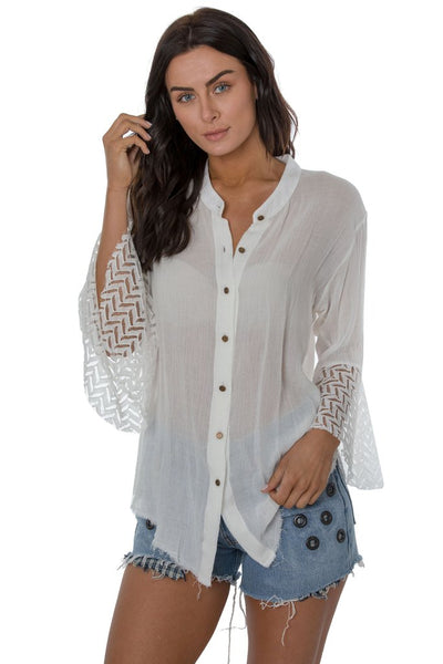 Meadow Gauze Button Down