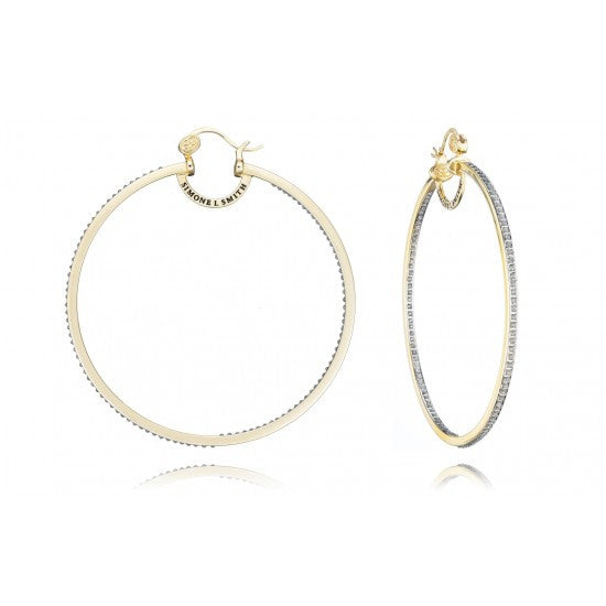 Everlasting Love Diamond Embellished Hoops XL