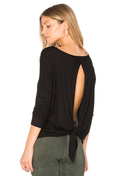 OPEN BACK LONG SLEEVE