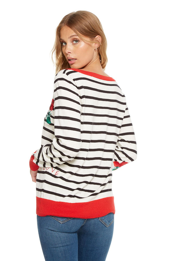 STRIPED GARDEN SWEATER