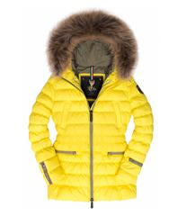 Down Jacket with Fur Trim Hood