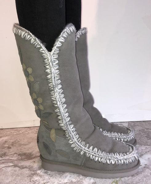 Tall Flower Boot