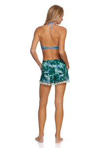 Green Multi Tassel Short