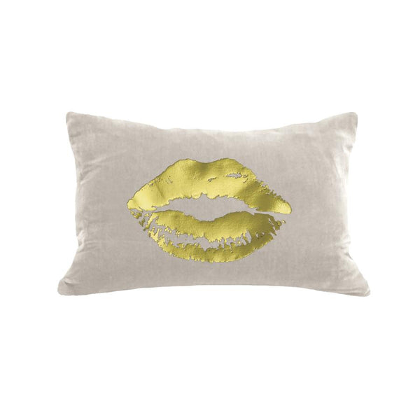12x18 Velvet Lips Pillow