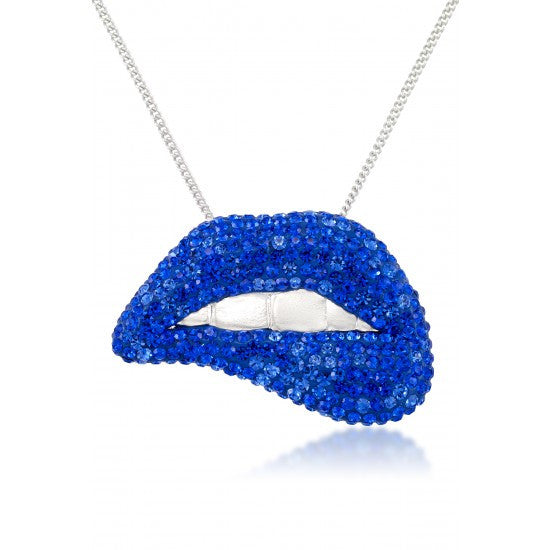 CRYSTAL SEXY LIPS NECKLACE