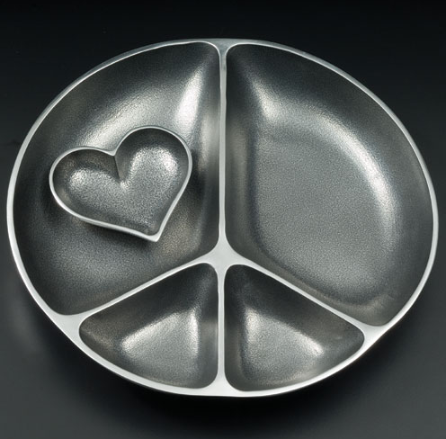 PEACE & HEART SERVING DISH