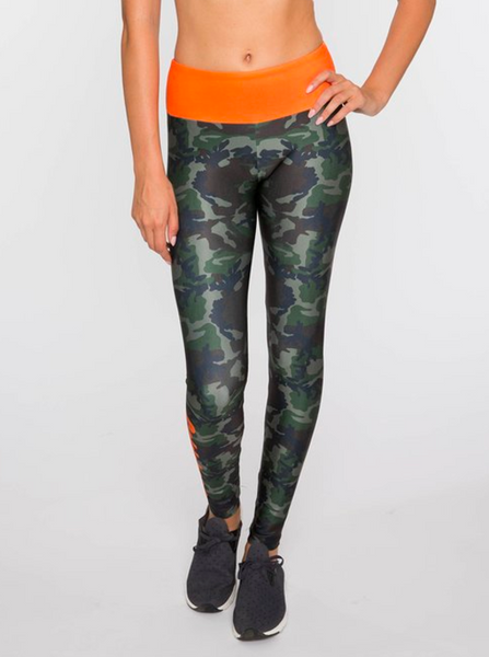 Green Camo Fitness Legging