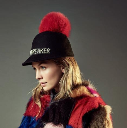 Heartbreaker Hat With Red Pom