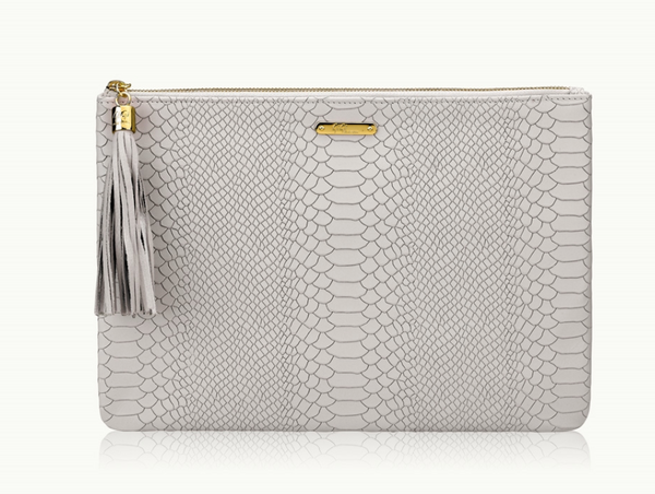 Uber Python Embossed Clutch