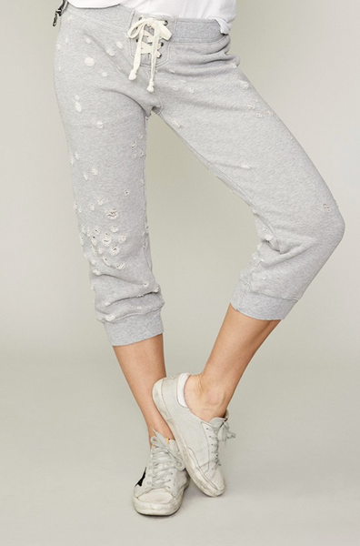 Crop Lace-up Track Pant