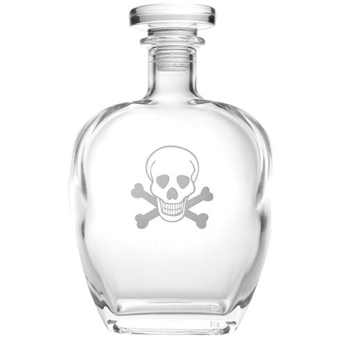 SKULL AND CROSSBONES WHISKEY DECANTER