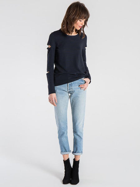GLORIA LONG SLEEVE WITH CUTOUT DETAIL
