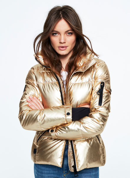 Metallic Freestyle Bomber Jacket