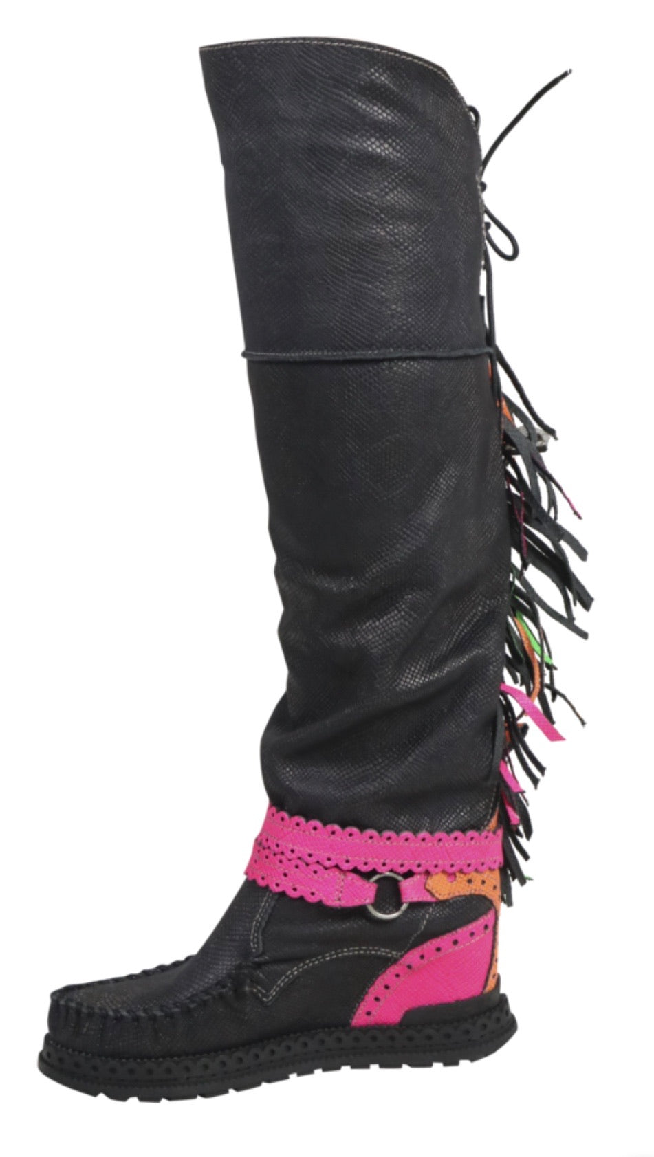 Neon Over The Knee Boot