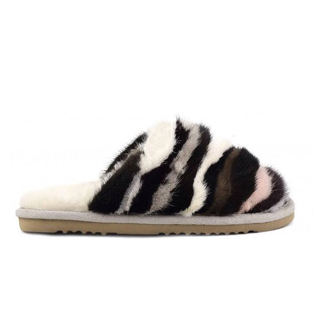 Mink Stripy Slide