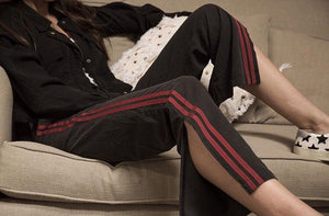 Military Striped Silk Trackpant